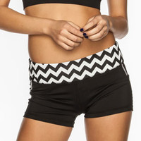 Full Tilt Sport Printed Womens Shorts Black/White  In Sizes