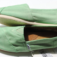 Custom Hand Painted Toms in Mint Green READY by PaperHeartsCouncil