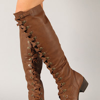 Breckelle Alabama-14 Military Lace Up Boot