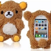 3D Plush Bear Protective Case for iPhone 5 and iPhone 4 &- 4S (Brown)