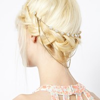 New Look Pearl Centre Drape Hair Slide