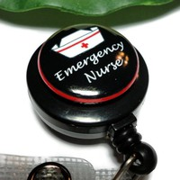 Emergency Nurse Id Badge Holder Reel Clip on and Retractable