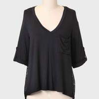 Yours Truly Contrast Top