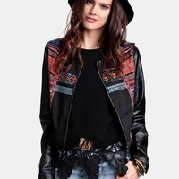 Southwest Expedition Faux Leather Jacket