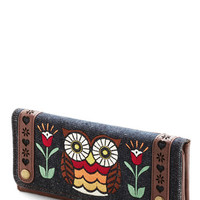 Loungefly Folk Art Owl About Town Wallet
