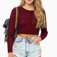 Amy Cropped Sweater $32