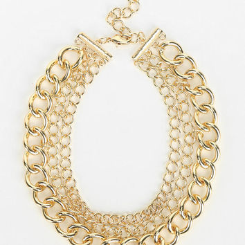 Layered Chain Choker Necklace - Urban Outfitters