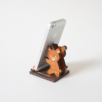 Bear Cellphone Stand Brown