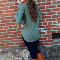 Studs Down the Back {Olive}