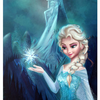 Elsa Frozen Art Print by AnM_Niniel