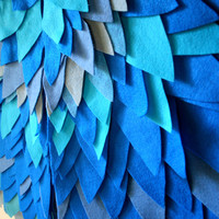 Childrens Blue Felt Wings - Handmade Dress Up Costume