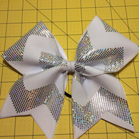 Sparkly chevron cheer bow