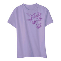Hummingbird T-shirt Women's Lavendar S M L XL 2XL Womens cut