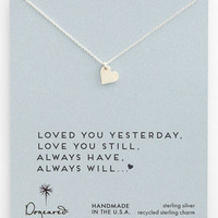 Women's Dogeared 'Love - Sparkle Heart' Boxed Pendant Necklace - Sterling Silver