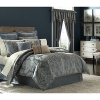 Croscill Chantal King Comforter Set Blue - Zappos.com Free Shipping BOTH Ways