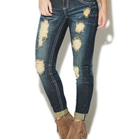 Almost Famous Destroyed Skinny Jean - WetSeal