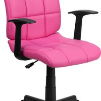 Mid-Back Quilted Task Arm Chair