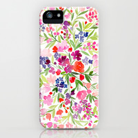 Field of Spring Flowers iPhone & iPod Case by Yao Cheng Design
