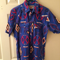 crazy western button down // navajo button down // 1970s authentic western youngbloods