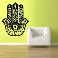 Wall Decal Vinyl Sticker Decals Hamsa Hand Eye Indian Buddha Ganesh (Z1353)
