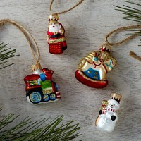 Nostalgic Mini Ornaments, Set of 4