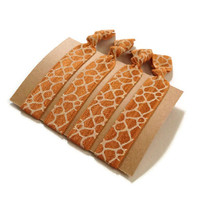 Elastic Hair Ties Giraffe Print Yoga Hair Bands