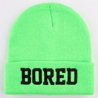 Reason Bored Beanie Neon Green One Size For Men 23454891001