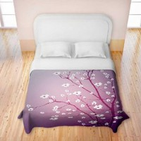 Duvet Cover Brushed Twill from DiaNoche Designs by Monika Strigel Home Décor and Bedroom Ideas - Blooming Tree Red Wash