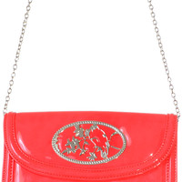 Patent Perch Purse in Coral