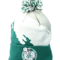 Boston Celtics Paintbrush Beanie (Green/White/Gray)