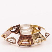 Cog Bracelet in Mixed Metal :: tobi