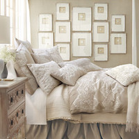 Lili Alessandra Champagne/Silver Jackie Bed Linens