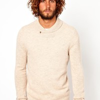 ASOS Lambswool Rich Shawl Neck Sweater