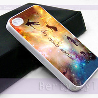 Iphone Case - Iphone 4 Case - Iphone 5 Case - Samsung s3 - samsung s4 - Disney New Peter Pan Quote - Photo Print on Hard Plastic