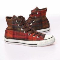 Converse All Star Brusher Plaid Sneaker - Chestnut Brown - Punk.com