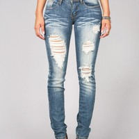 Shred Show Straight Jeans | Trendy Jeans at Pink Ice