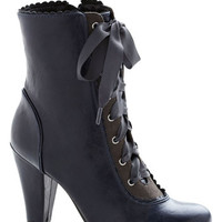 Flair-y Tale Boot in Midnight Blue