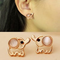 NT0221 elephant stud earrings