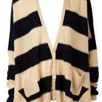 Striped Boyfriend Cardigan
