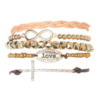 Love Friendship Bracelet Set | Wet Seal