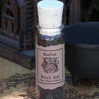 Bonfire Witch Salt . For Fire Workings, Sacred Sabbats, Purification, Cleansing . Culinary . BBQ . One ounce