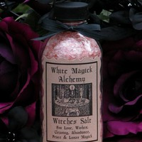 Pink Witches Salt . For Love, Wishes, Clearing, Abundance, Peace, Dreams and Lunar Magick . Culinary . 5 ounces