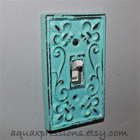 Custom Order for Chason Purdy - Double Aqua Light Switch