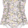Zimmermann|Sorbet cutout strapless swimsuit|NET-A-PORTER.COM