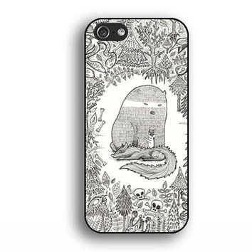 bear and fox iphone 4 cases, iphone 5s cases, iphone 5 cases,iphone 5c cases,iphone 4s cases,iphone cases