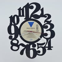 Vinyl Record Album Wall Clock (artist is Paula Abdul)