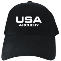 USA Archery / ATHLETIC AMERICA Black Baseball Cap Unisex