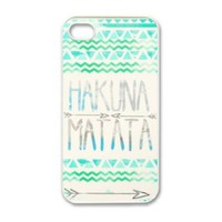 Change Hakuna Matata Aztec Tribal Pattern Snap on Case for Iphone 4 4g 4s