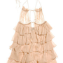 Jenny Packham|Feather-trimmed silk-chiffon slip|NET-A-PORTER.COM