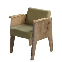 The Future Perfect - Tree Trunk Chair in Green Velour - Seating
